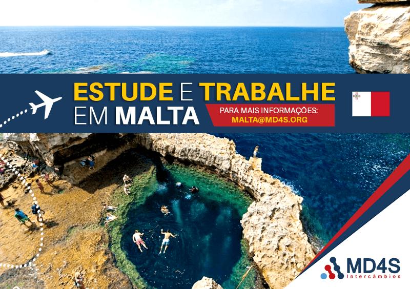 Estude e trabalhe em Malta